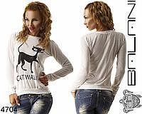 Женский свитшот Cat walk, фото 1