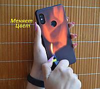 Термо чехол огненный для Xiaomi Redmi Note 7 / 7 Pro