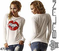 Белый женский свитшот Love Moschino
