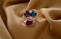 Кольцо с крупными камнями,красивое женское кольцо