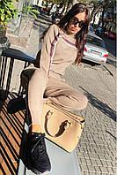 Женский спортивный костюм FREEVER 90821 бежевый