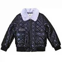 Короткая куртка для мальчика из экокожи, фото 1