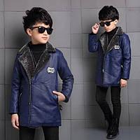Стильная куртка для мальчика из экокожи, фото 1