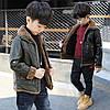 Осенняя куртка для мальчика из экокожи