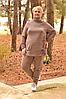 Утепленный костюм для крупных женщин, с 48 по 82 размер
