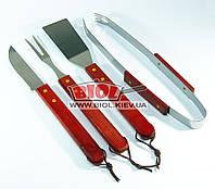Набор инструментов для барбекю (4 пр. 33см) - щипцы, лопатка, нож, вилка для мяса из нержавейки Empire EM-1032