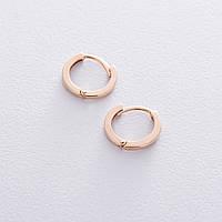 Серьги-кольца в красном золоте