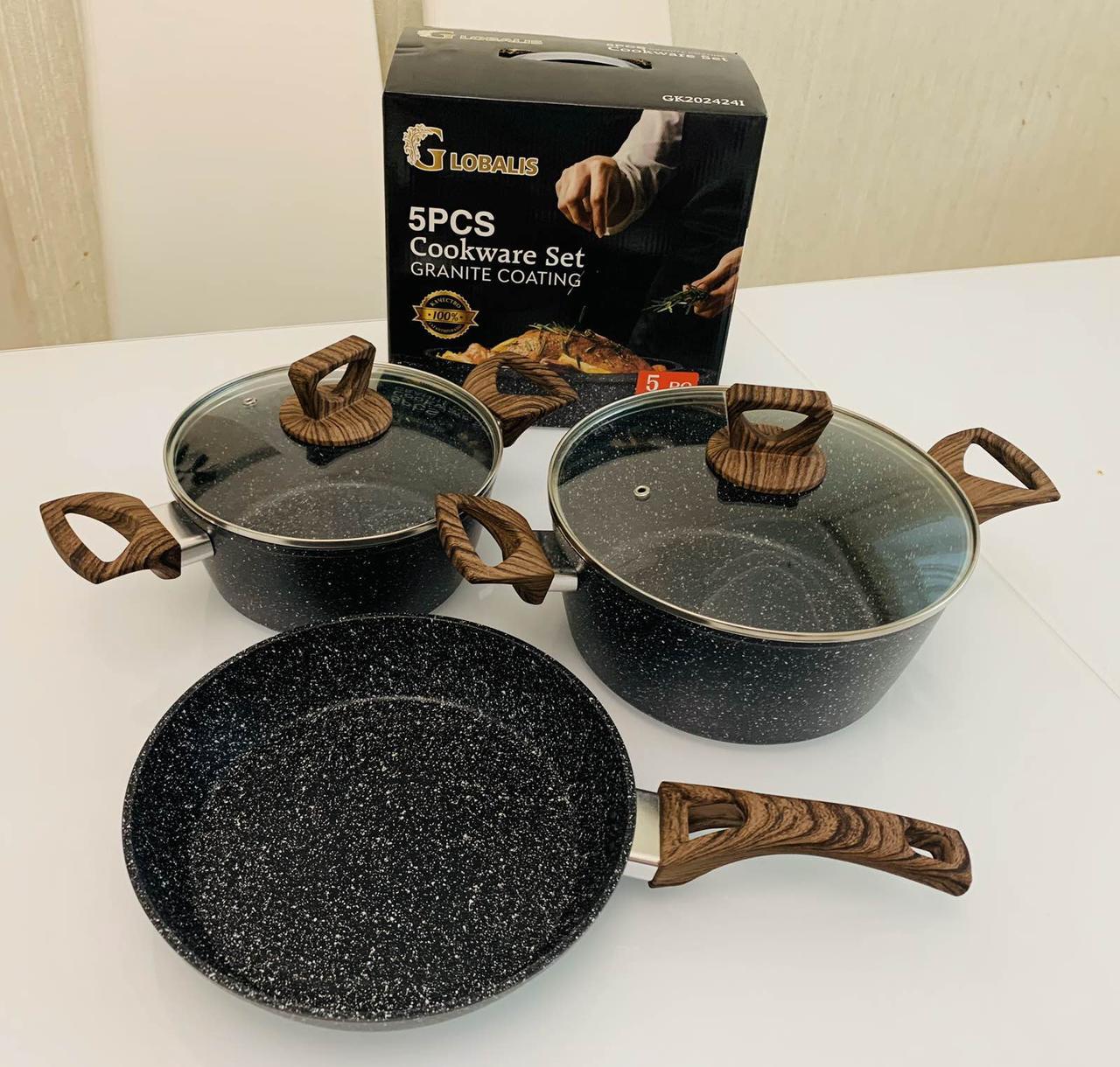 Набор посуды из 5 предметов GLOBALIS с мраморным покрытием