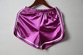 Женские шорты атласные с высокой посадкой размер S