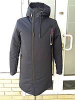 Удлиненная мужская куртка парка молодежная