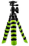 Гибкий штатив / трипод H19 см для телефона, камеры, GoPro Alitek Flexible Black/Green (62078), фото 1