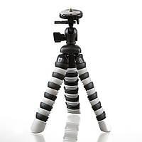 Трипод / Гибкий штатив h19 см для смартфона, GoPro, камеры Alitek Flexible Black/White (62077)