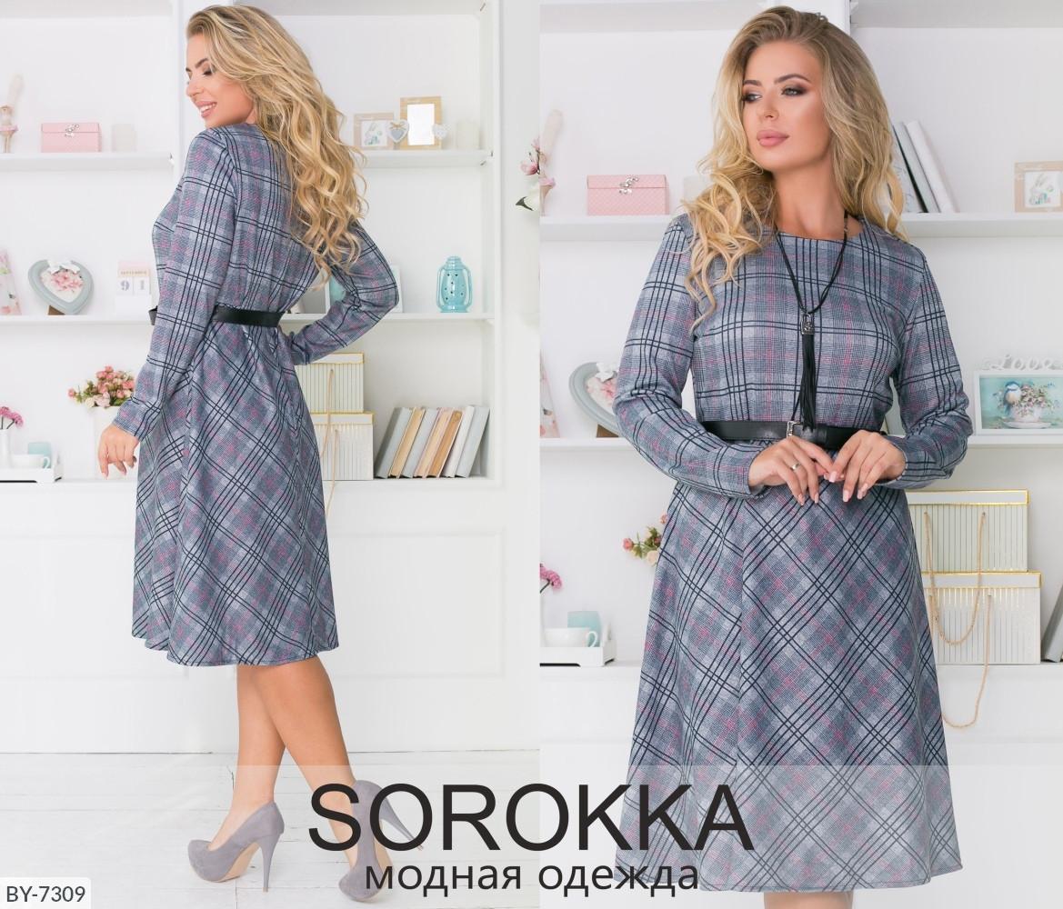 Стильное платье     (размеры 48-58) 0215-41