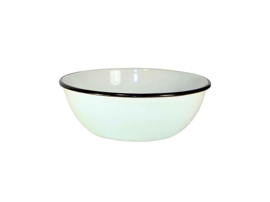 """Эмалированная кухонная миска 2.5 литра Белая (I0311/1) """"IDILIA"""""""