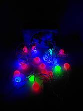 Гирлянда LED фигурная разноцветная Шарики 3 метра