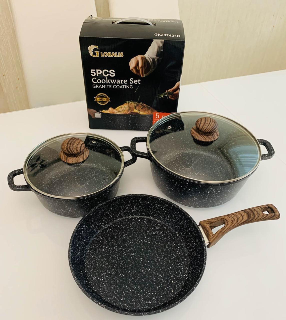 Набор посуды GLOBALIS из 5 предметов с мраморным покрытием