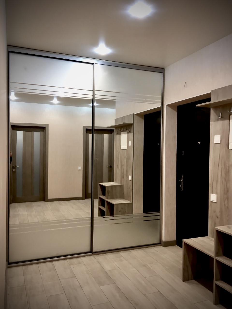 Шкаф купе с системой zola графит + зеркало