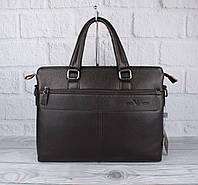 Сумка мужская для документов, портфель Giorgio Armani 6618-3 кофе, 38*29*8 см