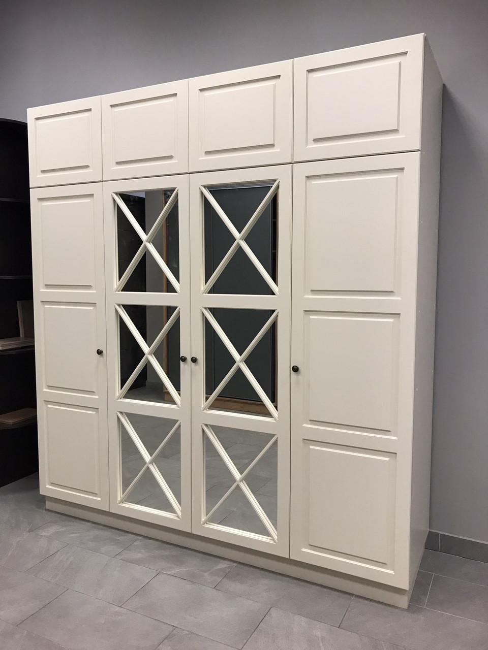 Шкаф с фасадами мдф и зеркалом
