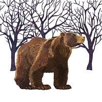Cалфетка для декупажа Бурый медведь 4892