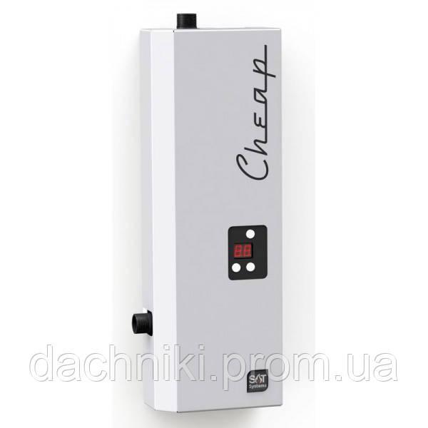 Бесшумный электрический котел SAT CHEAP 6 кВт 220/380В
