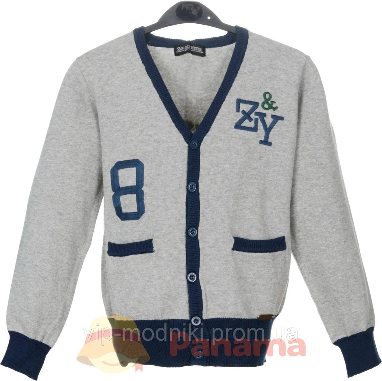 Кофта для мальчика,серый с синим Zu-Yspanici.