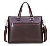 Мужская сумка кожаная Fedika Bolo Коричневая, фото 3