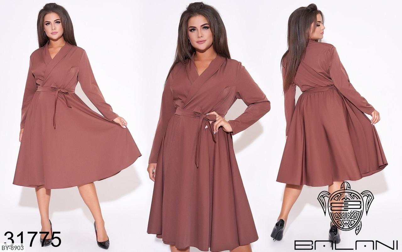 Стильное платье     (размеры 50-56) 0215-60