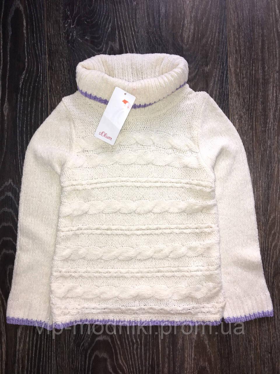 Пуловер теплый на девочку от s.oliver Оригинал!Индонезия производитель.Размер 128/134 8-9 лет.