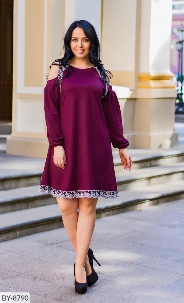 Стильное платье     (размеры 50-64) 0215-63
