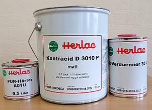 Полиакриловый 2К матовый лак для паркета Контрацид Д3010Р Герлак (Германия), комплект 6,5 л