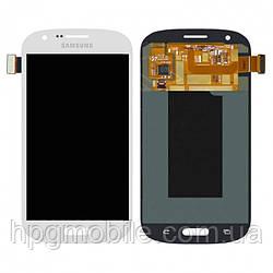 Дисплейный модуль (дисплей + сенсор) для Samsung Galaxy Express i8730, белый, оригинал