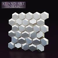 """3D панель """"Соты"""" . гипсовая . декоративная панель на стену"""