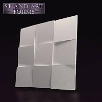 """3D панель """"Квадрати"""" . гіпсова . декоративна панель на стіну"""