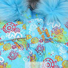 Детский зимний комплект для девочки Kiko 3341 |  92р. на пуху, фото 2