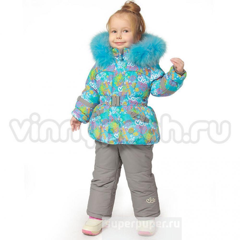 Детский зимний комплект для девочки Kiko 3341 |  92р. на пуху