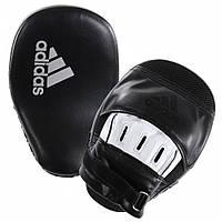 Лапы боксерские гнутые Adidas 26x18x9cm Curved Focus Mitts (ADIBACH01, черно-белый)