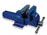 Слесарные стальные тиски с 100мм губками. Открытие-120мм, глубина-80мм, вес 6.30кг. GROZ 35450 EBV/F/100.