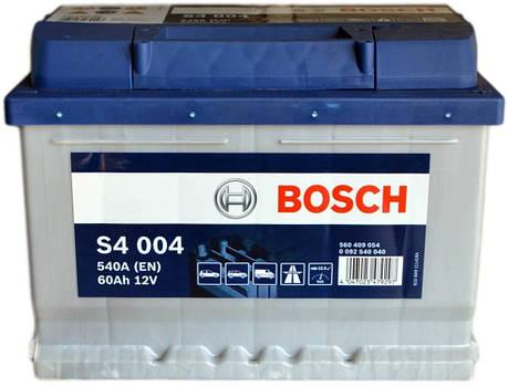 Bosch 6CT-60 S4 Silver (S40 040) Автомобильный аккумулятор, фото 2