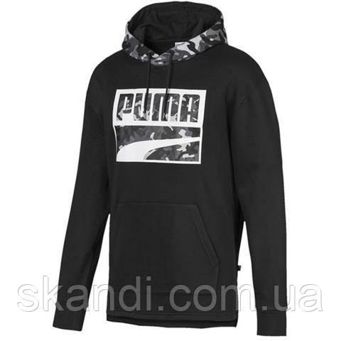Толстовка мужская Puma Rebel Camo Hoody FL черная 580555 01