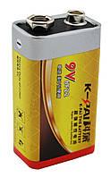 Сольова Батарейка K-Pai 6F22 9V цинк карбон, фото 1