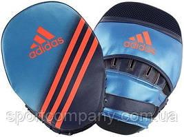 Лапы гнутые боксерские Speed Focus Mitts Adidas ADIBACМ01, 26*18*9см