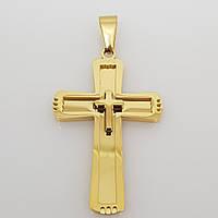 Крупный крестик. Бижутерия из медицинского золота