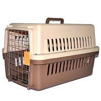 Пластиковая переноска для собак (кеннел)с железной дверью 58,5х37х35см IATA