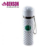 Вакуумный детский металлический термос Benson BN-56 350 мл | Белый