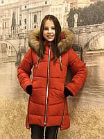 Детская одежда.  Пальто зимнее - Маргарет(красный), фото 1