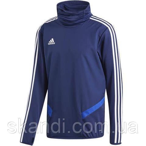 Толстовка мужская adidas Tiro 19 Warm Top синяя DT5791