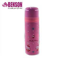 Вакуумный детский термос из нержавеющей стали Benson BN-54 500 мл | Розовый
