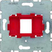 Опорная пластина для модульных разьемов с красной вставкой 1-местная Berker