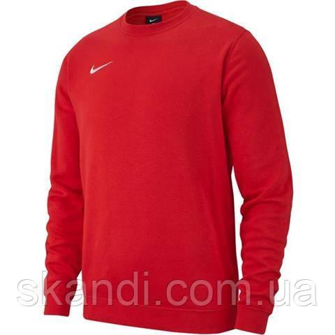 Толстовка мужская Nike Team Club 19 Fleece Crew красная AJ1466 657
